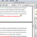The same copyediting notes as shown above, on Adobe Reader for Mac