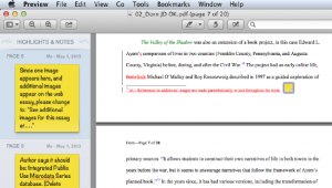 Copyediting PDF notes on Preview for Mac (on Sherman Dorn's essay)